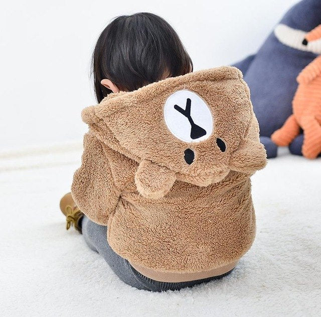 Hooded Teddy Bear Jacket