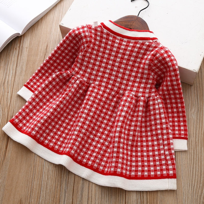 Penelope Checked Sweater Dress