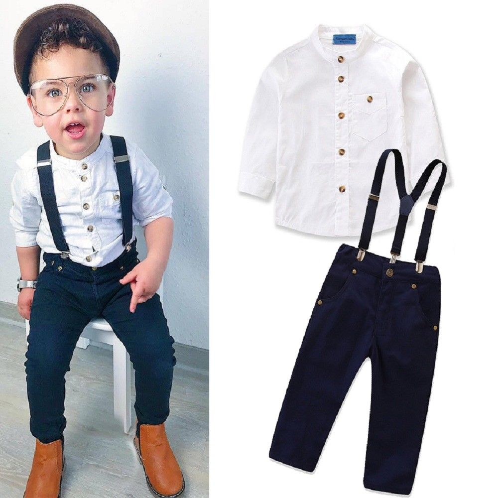 Lucas 3 Piece Twill Pant, Shirt and Suspender