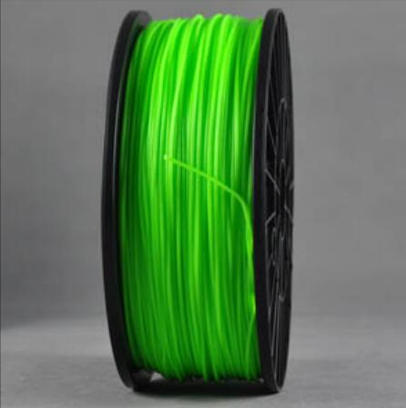 ABS Luminous Green 3d Printer filament 1.75 mm plastic spool 1 kg