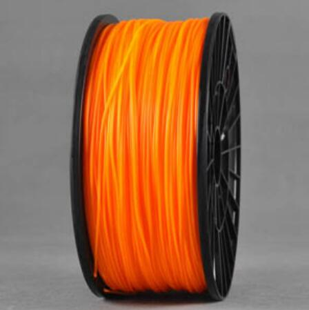 ABS Orange 3d Printer filament 1.75 mm plastic spool 1 kg