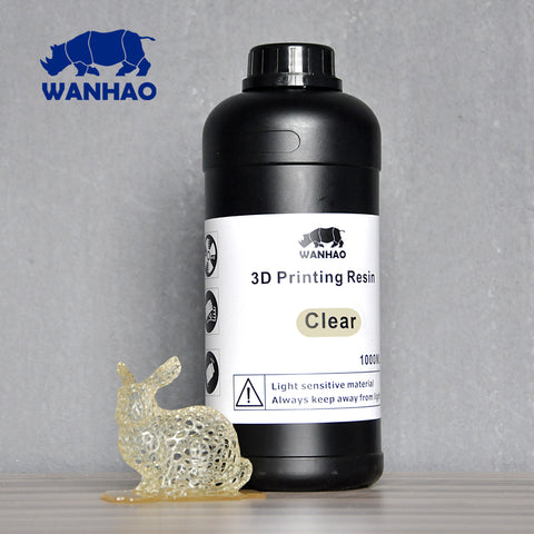 Clear - UV 405nm photopolymer resin for LCD/SLA 3d printer Wanhao Duplicator 7 - 1000 ml