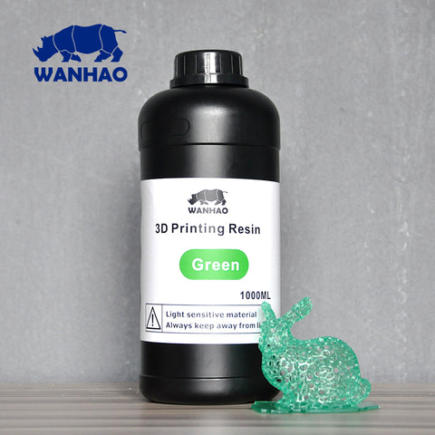 GREEN - UV 405nm photopolymer resin 1000 ml for Wanhao Duplicator 7 (D7) LCD/SLA 3d printer