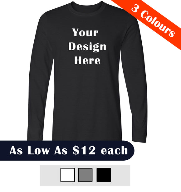 Custom T-Shirt Printing Long Sleeve