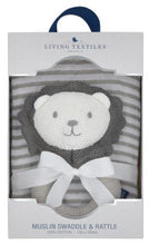 Austin the Lion Rattle & Muslin Swaddle Gift Set