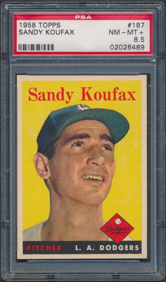 1958 Topps #187 Sandy Koufax Graded PSA 8.5 NM-MT+