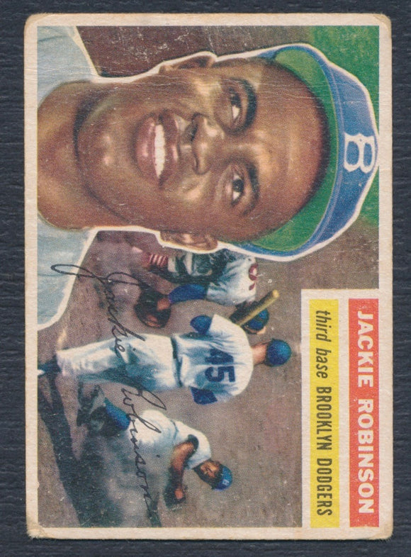 1956 Topps #30 Jackie Robinson (White Back) Good