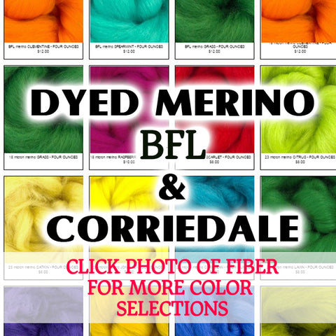 GROUP SALE - DYED FIBER