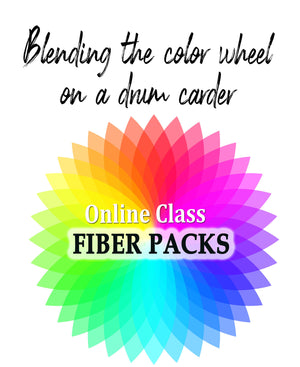 Fiber packs for Blending the Color Wheel on a Drum Carder online class