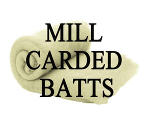 Milled carded batts