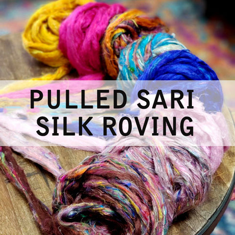 GROUP SALE - Sari silk roving