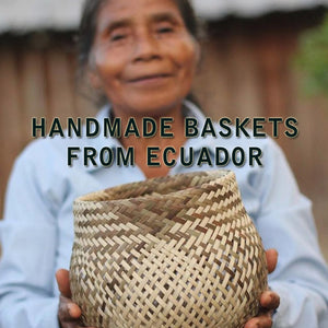 Handmade  baskets from Eucador