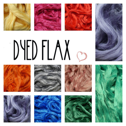 dyed flax