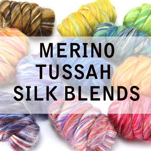 GROUP SALE MERINO/TUSSAH SILK BLENDS