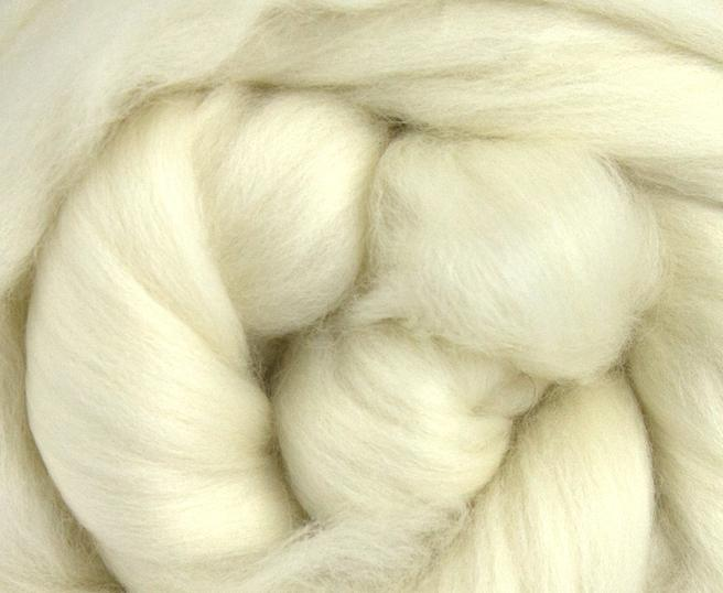 IN STOCK READY TO SHIP  50/50 18 micron merino/bleached tussah silk  - 4 ounce pack - Carissa