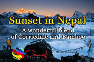SUNSET IN NEPAL custom blended combed top ONE OUNCE