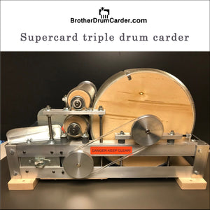 Brother Supercard triple drum carder mini mill.  Just like Patrick Green - FREE ONLINE CLASSES