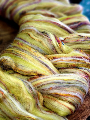 SUN KISSED - Soft 23 micron merino and pulled sari silk - FOUR OUNCES
