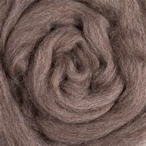 GROUP SALE - Blue Faced Leicester NATURAL BROWN combed top