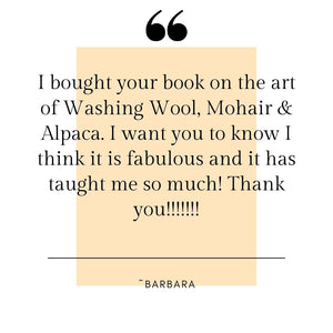The Art of Washing Wool, Mohair and Alpaca PAPERBACK - IN STOCK AND READY TO SHIP
