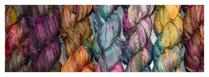 IN STOCK!   WHITE SARI RIBBON YARN - each - 3.5 ounces about 50 TO 60 yards