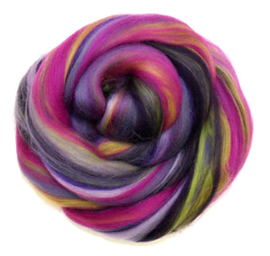 FANCY PANSY - Soft 23 micron Merino  conmbed top - FOUR OUNCE