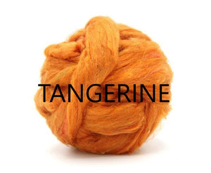 GROUP SALE - *Give up to 3 weeks for delivery - Pulled sari silk roving -   1 POUND