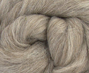 Alpaca baby combed top GREY - 4 ounce pack - carissa