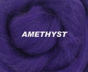 Amber 23 micron wool combed top roving