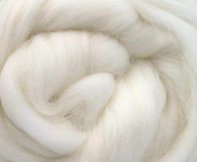 GROUP SALE - Angora white combed top - 1 POUND