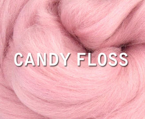 IN STOCK -  18 micron Merino CANDY FLOSS  - 1 ounce