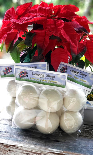 Leaping Sheep Dryer balls 4 pack 100% New Zealand wool.