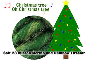 Christmas tree, Oh Christmas Tree - Merino/Rainbow Firestar - ONE POUND - GIVE UP TO 3 WEEKS FOR DELIVERY