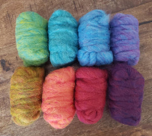 GROUP SALE - TOOT SWEET - Carded roving sample pack 14 ounces