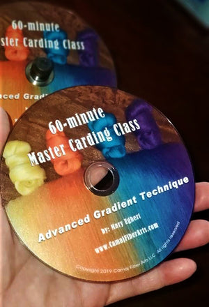 Actual DVD of the Master Drum Carding Class - Advanced Gradient Technique