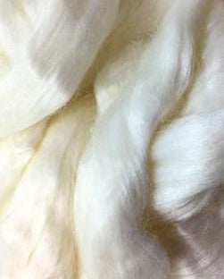 GROUP SALE White Eri peace silk combed top - 1 POUND  *** Please give up to 3 weeks for delivery***