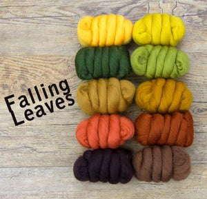 GROUP SALE - FALLING LEAVES - 23 micron Merino FIBER JELLY BEANS -  1.1 pounds