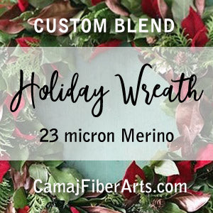 HOLIDAY WREATH custom blend  23 micron Merino blend - FOUR OUNCE PACK