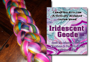 * PRE-ORDER 1.16.20  (give 4 to 5 weeks for delivery, it is getting made at the mill)  - IRIDESCENT GEODE -  1 OUNCE