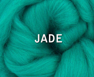 IN STOCK -  23 micron Merino JADE - 4 ounce pack