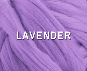 IN STOCK -  23 micron Merino LAVENDER  - 4 OUNCE PACK