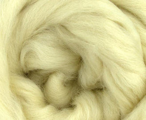 M - 23 micron merino combed top undyed - 1 ounce
