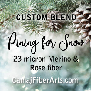 PRE-ORDER - PINING FOR SNOW -  custom blend Soft 23-micron Merino and a pop of Rose Fiber  - 1 OUNCE