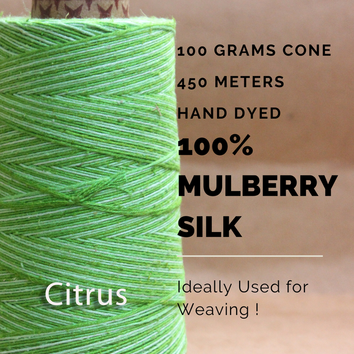 CITRUS -  Silk cone yarn - size - 12/2, Bourette silk, weight 3.5 ounces, length 495 yards, ombre style - each