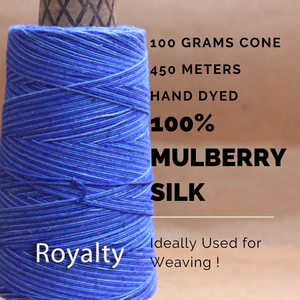 ROYALTY -   Silk cone yarn - size - 12/2, Bourette silk, weight 3.5 ounces, length 495 yards, ombre style - each