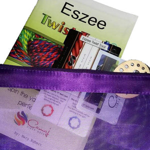 Eszee Twist Tool© twist reference card and yarn planner *