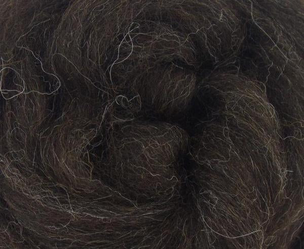 **TEMPLATE**  Zwartbles Combed Top NATURAL BROWN - 1 OUNCE