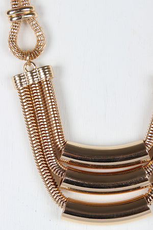 Carrie Tube Chain Chunky Geometric Necklace