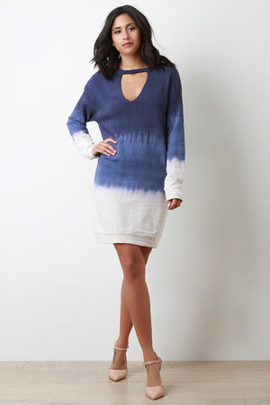 Dip Dyed Sweater Dress