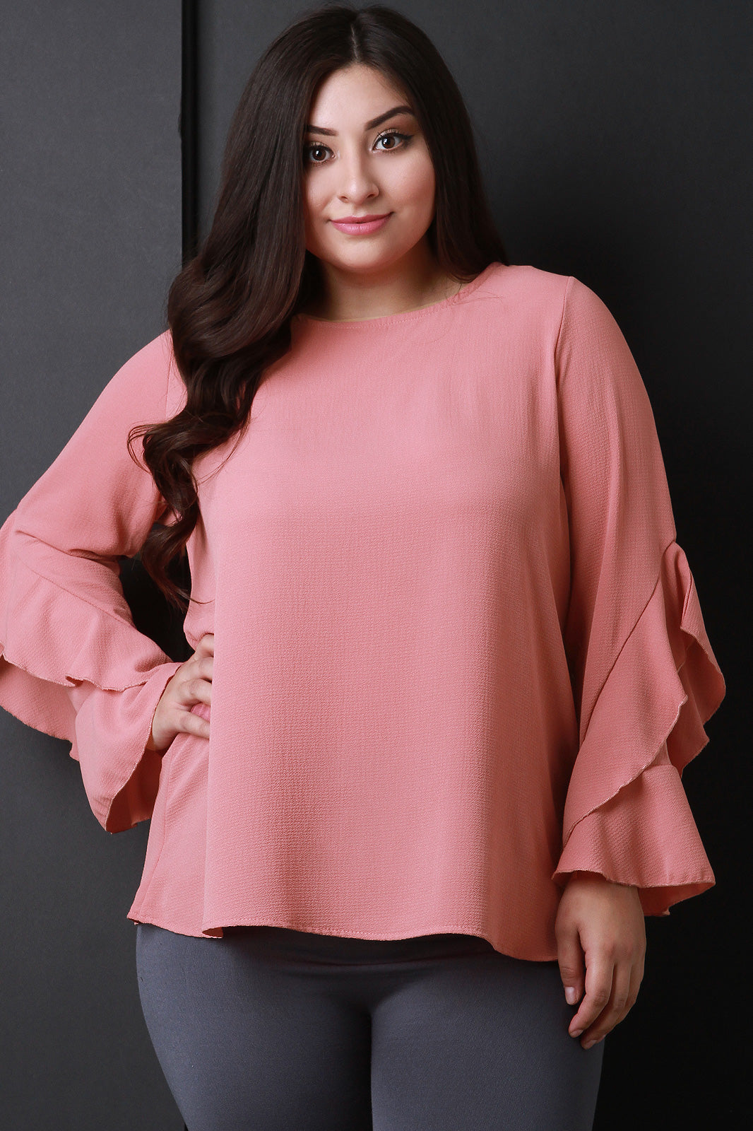 Tasia Long Ruffled Sleeves Top